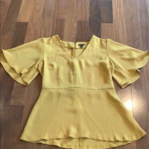 Ann Taylor Mustard Yellow Blouse